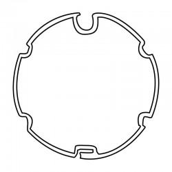 Adattatori per motori Ø 45 mm Coppia adattatori per rullo ogiva